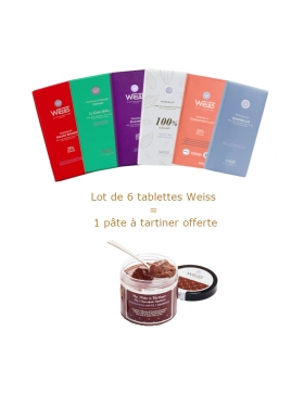 Lot de 6 tablettes et pâte à tartiner Weiss
