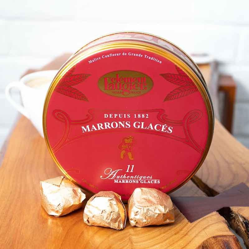 Marrons Glacés - boite aluminium rouge Clément Faugier