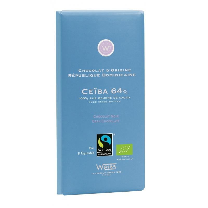 Tablette Weiss Chocolat Noir Ceiba 64%