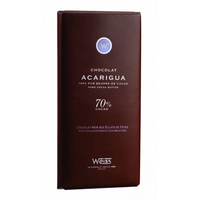 Tablette Weiss Chocolat Noir Acarigua 70%