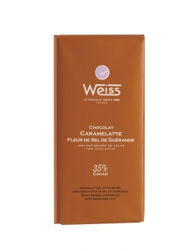 Tablette Weiss Caramelatte Pointe de Sel 35%