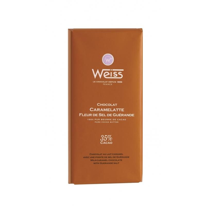 Tablette Weiss Caramelatte Pointe de Sel 35%