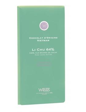 Tablette Weiss Chocolat Noir Li Chu 64%