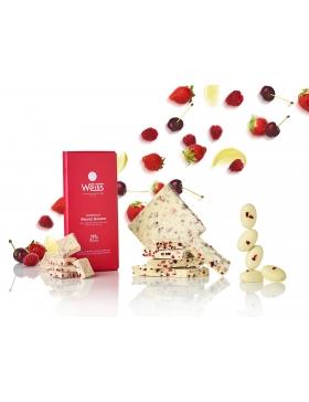 Tablette Weiss Chocolat Blanc Rouge Baiser 29%