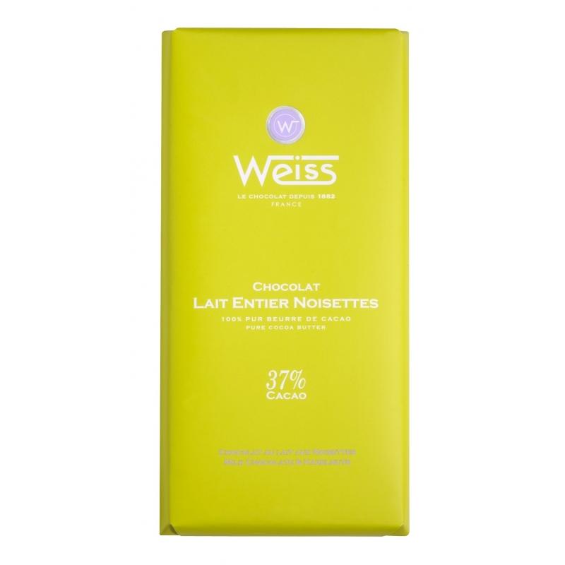 Tablette Weiss Lait Entier Noisettes 37%