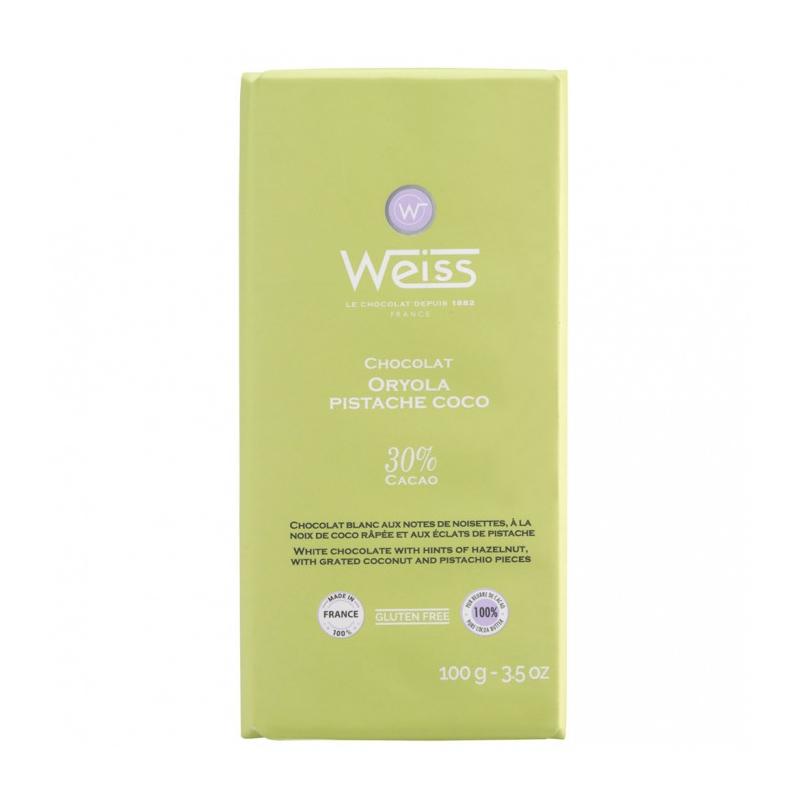 Tablette Weiss Oryola Pistache Coco
