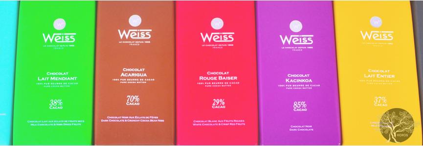 Tablettes de Chocolats Weiss - Epicerie Fine Koros.ch
